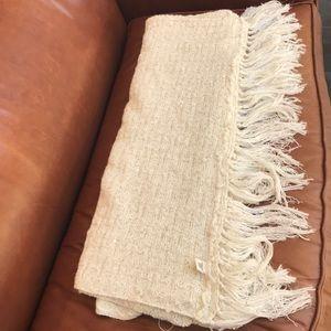 ⭐️Anthropologie Throw Blanket Sequin and Fringe